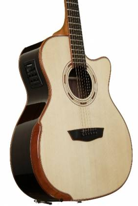 Washburn WCG25SCE-O Comfort Series Grand Auditorium Deluxe Cutaway 6-string RH Acoustic Electric Guitar-Natural Product Image 4