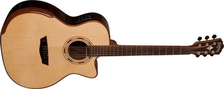 Washburn WCG25SCE-O Comfort Series Grand Auditorium Deluxe Cutaway 6-string RH Acoustic Electric Guitar-Natural Product Image 3