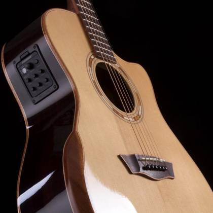 Washburn WCG25SCE-O Comfort Series Grand Auditorium Deluxe Cutaway 6-string RH Acoustic Electric Guitar-Natural Product Image 5
