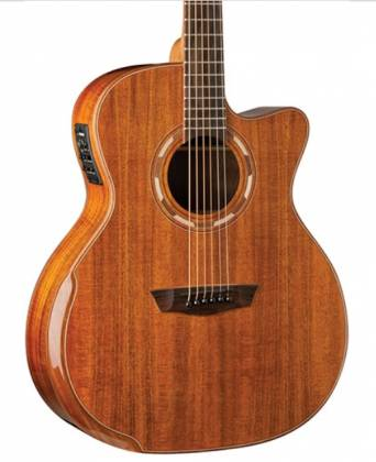 Washburn WCG55CE-O Comfort Series Grand Auditorium Cutaway 6 String RH Acoustic Electric Guitar-Natural Gloss Finish Product Image 2