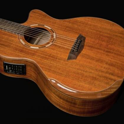 Washburn WCG55CE-O Comfort Series Grand Auditorium Cutaway 6 String RH Acoustic Electric Guitar-Natural Gloss Finish Product Image 4