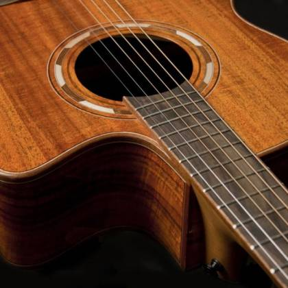 Washburn WCG55CE-O Comfort Series Grand Auditorium Cutaway 6 String RH Acoustic Electric Guitar-Natural Gloss Finish Product Image 7