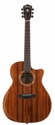 Washburn WCG55CE-O Comfort Series Grand Auditorium Cutaway 6 String RH Acoustic Electric Guitar-Natural Gloss Finish Product Image 8