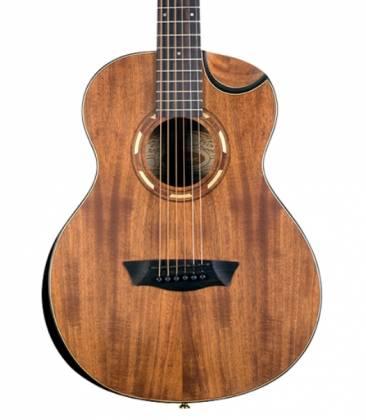 Washburn WCGM55K-D Comfort Series G-Mini 55 Koa 6-string RH Cutaway Acoustic Guitar-Natural satin Finish with Gigbag Product Image 2