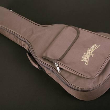 Washburn WCGM55K-D Comfort Series G-Mini 55 Koa 6-string RH Cutaway Acoustic Guitar-Natural satin Finish with Gigbag Product Image 9