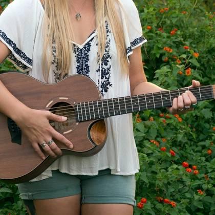 Washburn WCGM55K-D Comfort Series G-Mini 55 Koa 6-string RH Cutaway Acoustic Guitar-Natural satin Finish with Gigbag Product Image 11