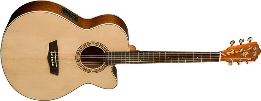 Washburn WG7SCE Harvest Series 6 String Acoustic Electric Guitar (discontinued clearance) Product Image 2
