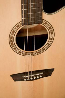 Washburn WG7SCE Harvest Series 6 String Acoustic Electric Guitar (discontinued clearance) Product Image 7