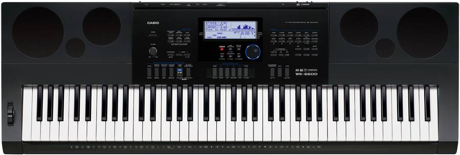 Casio WK6600 76 Note Piano Style Portable Keyboard with AC Adapter Product Image 2