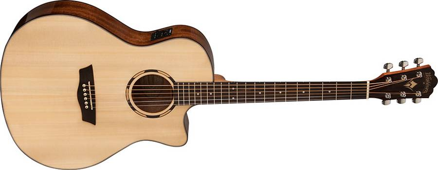 Washburn WLO10SCE Woodline 10 Series Orchestra Shape 6 String Acoustic Electric Guitar (discontinued clearance) Product Image 2