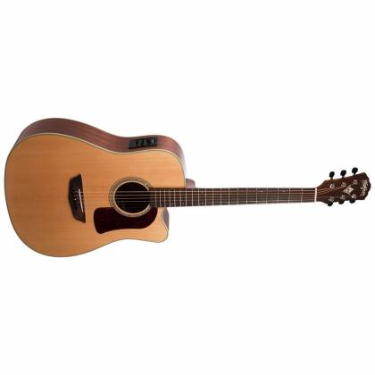 Washburn HD100SWCEK-D Heritage 100 Series 6 String RH Acoustic Electric Guitar with Hardshell Case Product Image 2