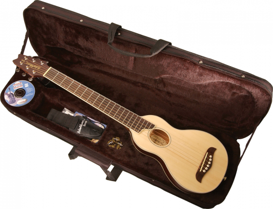 Washburn RO10W Rover 6 String Acoustic Mini Travel Guitar (discontinued clearance) Product Image 3