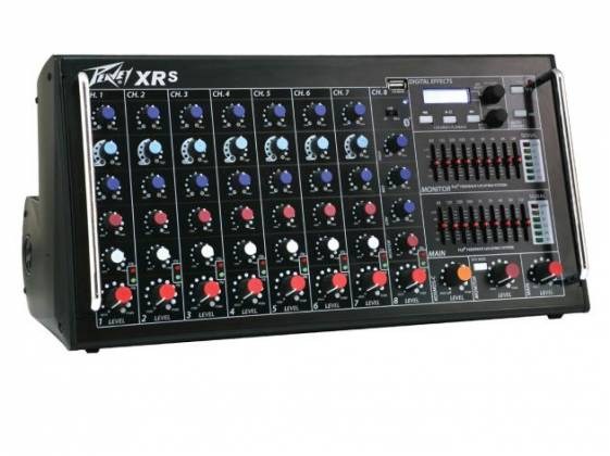Peavey 03612230 XR-S Bluetooth Enabled POWERED MIXER 1500W Peak 8 Channel Powered Mixer  Product Image 2
