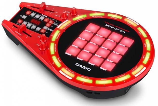 Casio XW-PD1 All in One Trackformer DJ & Groove Controller with Electronic Drum Pads Product Image 4