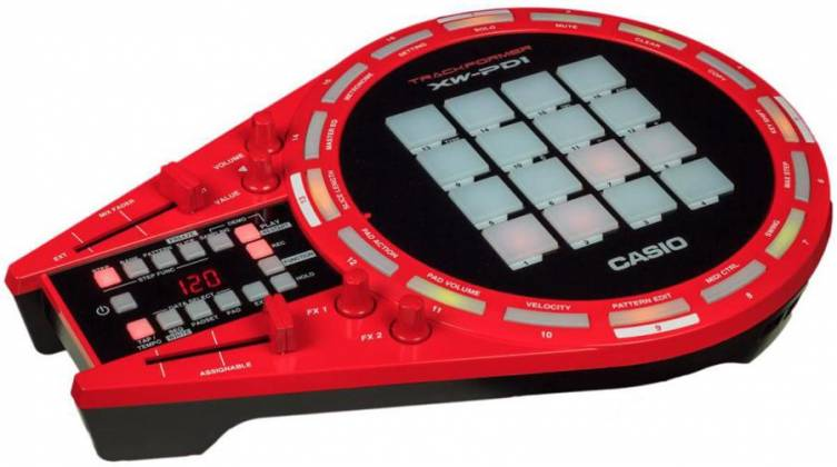 Casio XW-PD1 All in One Trackformer DJ & Groove Controller with Electronic Drum Pads Product Image 5