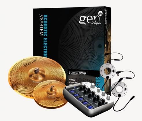 Zildjian G16BS3DS Gen16 A/E Buffed Bronze 13/18 DS Cymbal Set Product Image 2