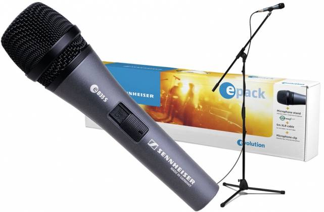 Sennheiser EPACK-e 835 Microphone Bundle (incl. boom stand, XLR cable, microphone and pouch) Product Image 2