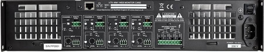 Cloud VTX4400 4 x 400W Amplifier Product Image 3