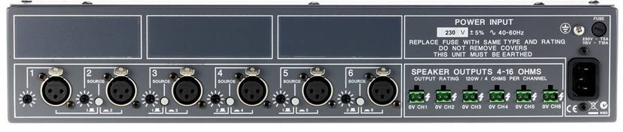 Cloud CXA6 6 x 120W Amplifier Product Image 3