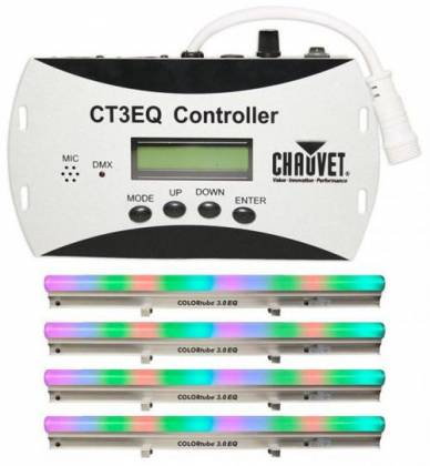 Chauvet DJ COLORtube 3.0 EQ(5pcs) + CT3EQ Controller Package - Linear Chase and Static Color Effect (discontinued clearance/demo) Product Image 4