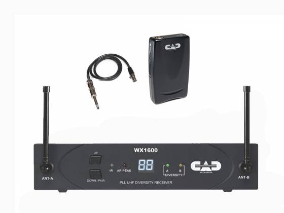 CAD Audio WX1600G UHF 100 Channel Frequency Agile Handheld Wireless System Product Image 2