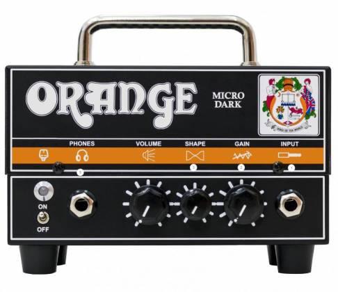 Orange MD MICRO DARK Valve/Solid State 20W Hybrid Guitar Amplifier Head md-micro-dark Product Image 2