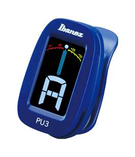 Ibanez PU3-BL Blue Clip on Chromatic Tuner with LCD display Product Image 2