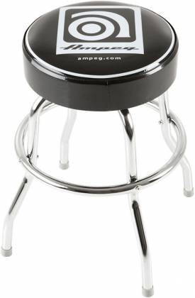 Ampeg Studio Stool 24 Inch Metal Stool with Ampeg Logo on Cushioned Seat Product Image 5