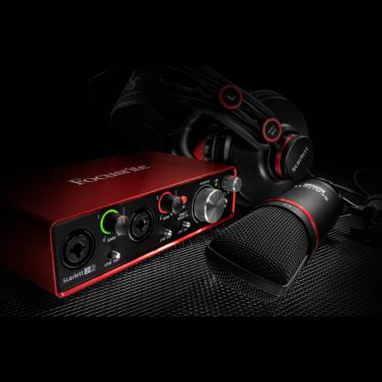 Focusrite Scarlett Studio Pack MK2 Next Generation Digital Audio Package with Scarlett 2i2 and Accessories Product Image 4