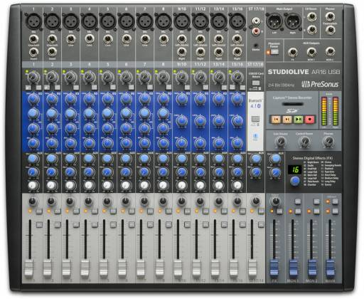 Presonus StudioLive-AR16 18 Channel Hybrid Performance and Recording Mixer with USB and Bluetooth Product Image 2