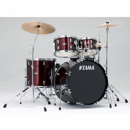 Tama SG52KH6C-WR STAGESTAR Complete Drum Kit with 16x22 Inch Bass Drum and Stagestar Cymbal Set in Wine Red Product Image 2