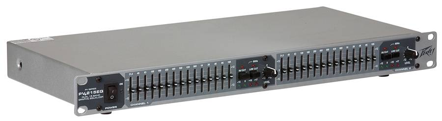 Peavey 03615350 PV 215EQ Dual Band Graphic Equalizer Product Image 2