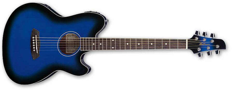 Ibanez TCY10E-TBS-d Talman 6 String RH Double Cutaway Body with Preamp in Transparent Blue Sunburst Finish tcy-10-e-tbs-d Product Image 2