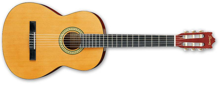 Ibanez GA3-AM-d 6 String Classical Acoustic Guitar in Amber Finish Product Image 2
