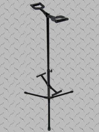 Profile GS452 Double Guitar Stand With Safety Lock And Padded Black Foam Product Image 2