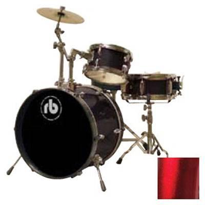 RB Drums RBJR3MWR Junior Drum Kit in Metallic Wine Red Product Image 2