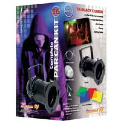 American DJ 56-BLACK-COMBO Par Can Lighting Kit in Black with Accessories Product Image 2