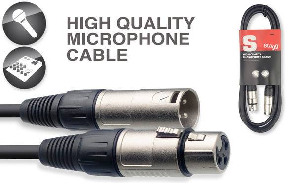 Stagg SMC6 20 ft XLR Microphone Cable with Lifetime Warranty 18230 Product Image