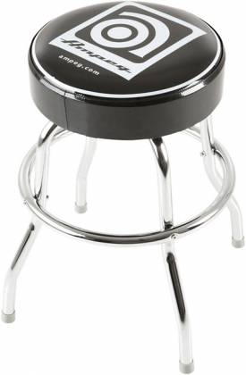 Ampeg Studio Stool 24 Inch Metal Stool with Ampeg Logo on Cushioned Seat Product Image 4