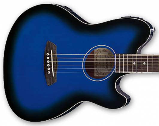 Ibanez TCY10E-TBS-d Talman 6 String RH Double Cutaway Body with Preamp in Transparent Blue Sunburst Finish tcy-10-e-tbs-d Product Image 3