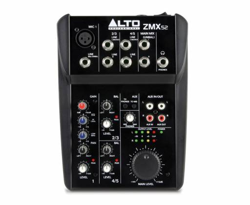Alto ZMX52 ZEPHYR 5 Channel Compact Mixer Product Image 3