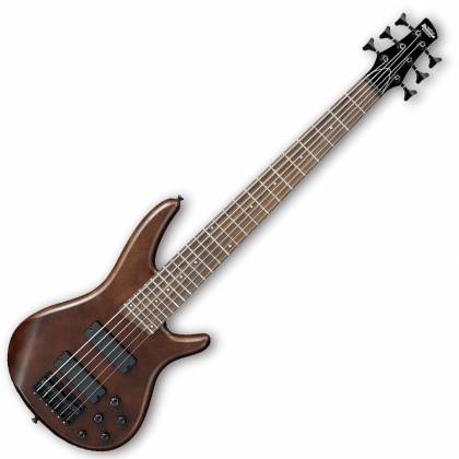 Ibanez GSR256B-WNF-d Gio Series 6 String Bass Guitar in Walnut Flat Finish (discontinued clearance)  (Prior Year Model) Product Image 2