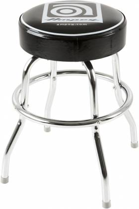 Ampeg Studio Stool 24 Inch Metal Stool with Ampeg Logo on Cushioned Seat Product Image 3