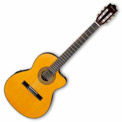 Ibanez GA5TCE-AM-d 6 String Classical Acoustic Electric Guitar in Amber High Gloss (discontinued clearance)  (Prior Year Model) Product Image 2