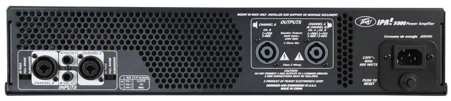 Peavey 03004350 IPR2 5000 5000W Power Amp Product Image 4