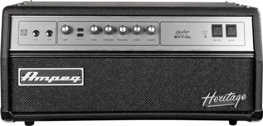 Ampeg HSVTCL Heritage All Tube 300W Bass Head  Product Image 4