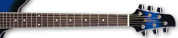Ibanez TCY10E-TBS-d Talman 6 String RH Double Cutaway Body with Preamp in Transparent Blue Sunburst Finish tcy-10-e-tbs-d Product Image 4
