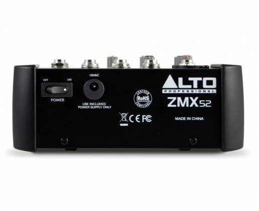 Alto ZMX52 ZEPHYR 5 Channel Compact Mixer Product Image 4