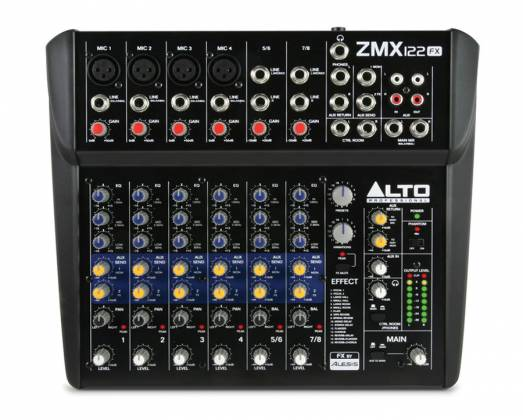 Alto ZMX122FX 8 Channel Compact Mixer with Effects Product Image 4