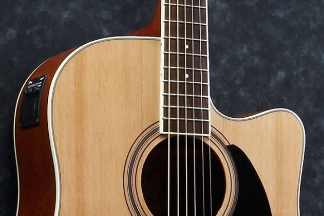Ibanez PF17ECE-LG-d PF Series 6 String Acoustic Electric Guitar in Natural Low Gloss (discontinued clearance)  (Prior Year Model) Product Image 2